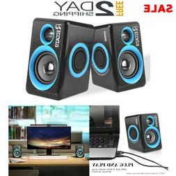 Gaming Speakers PC Surround Sound System Loud Deep Bass USB