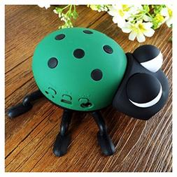 Green cartoon 11cm ladybug shaped MP3 player Micro SD/TF USB