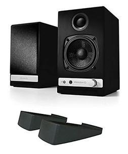 Audioengine HD3 Powered Bookshelf Speakers , Black with DS1