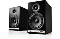 Audioengine HD6 150W Wireless Powered Bookshelf Speakers, Bl