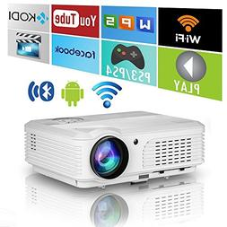 Home Wireless Bluetooth Projector HD HDMI Airplay Android Ap