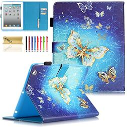 iPad Air 2 2014 Case with , A1566 A1567 Case, Dteck Flip Fol