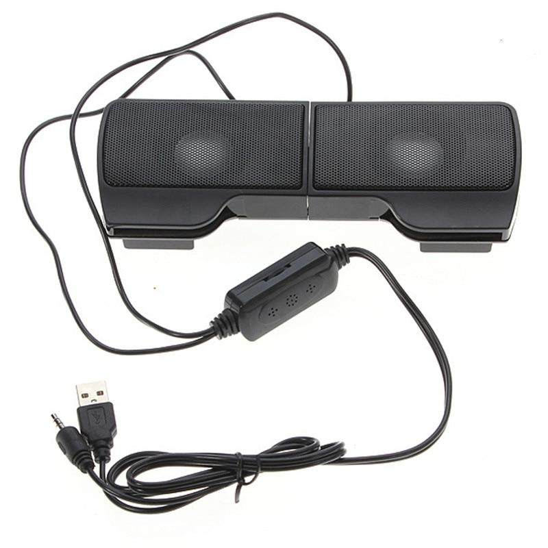 1 pair mini portable clipon usb stereo