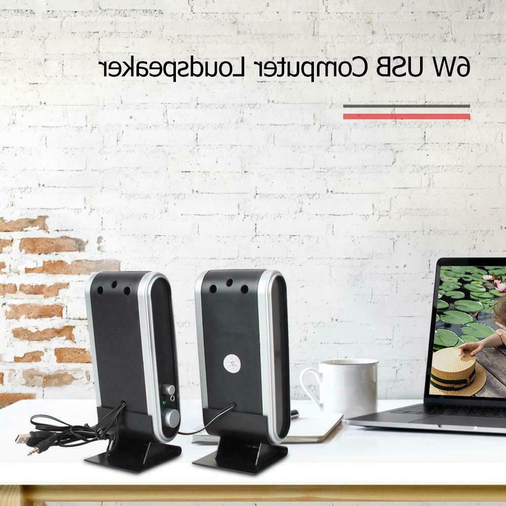 6W Mini Portable USB Speakers for Notebook Laptop Desktop PC