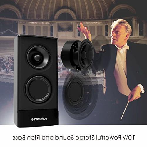 Avantree Computer Wired 2-in-1, Superb Stereo Audio, / Multimedia Speakers for Laptop, Mac, TV