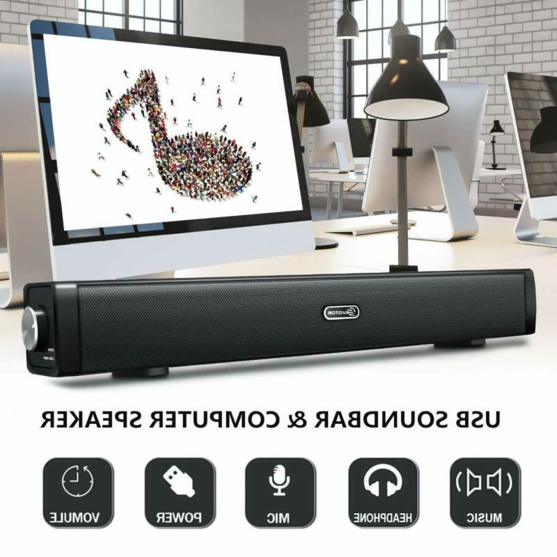 Eivotor Mini Soundbar For Computer B