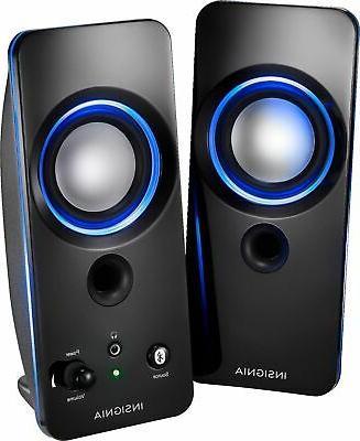 2 0 bluetooth lighted speaker system 2pc