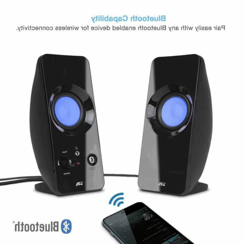 Cyber Acoustics 2.0 Bluetooth Home Audio Pc