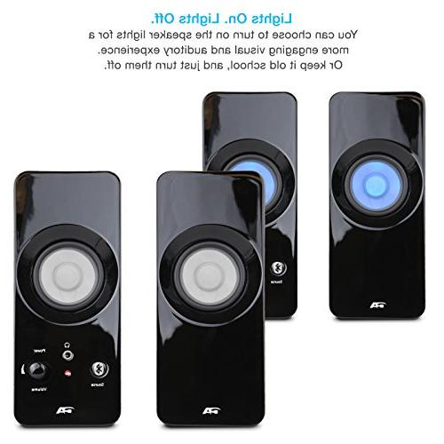 PC,Tablet and iPod Cyber Lighted Bluetooth Speaker System Home Audio for Laptop