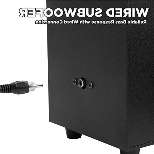 with Wired Subwoofer SonaVERSE PC Peak Power, and Transforming Stereo for