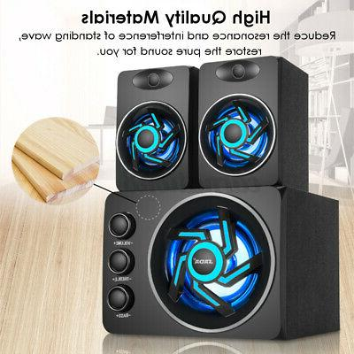 2.1 Desktop Speaker LED Heavy Subwoofer For PC