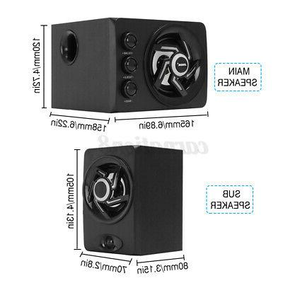 2.1 Computer Speaker LED Light Subwoofer For