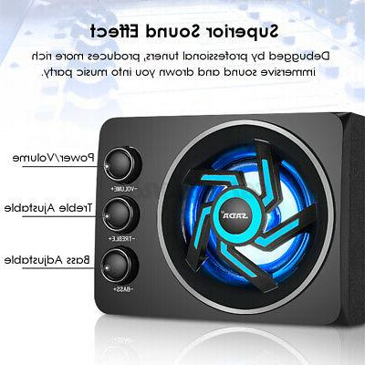 2.1 Desktop Computer LED Light Bass Subwoofer PC