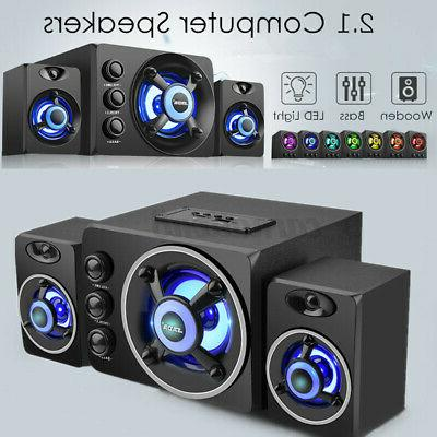 LED Heavy Subwoofer Home Speaker PC