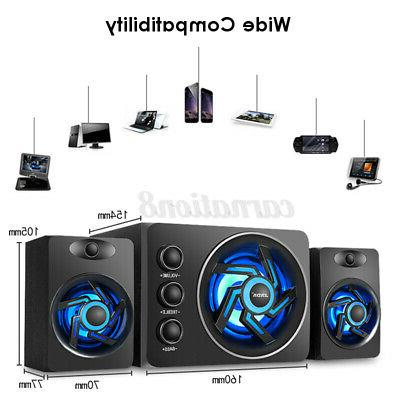 2.1 Desktop Speaker LED Subwoofer Home Speaker PC