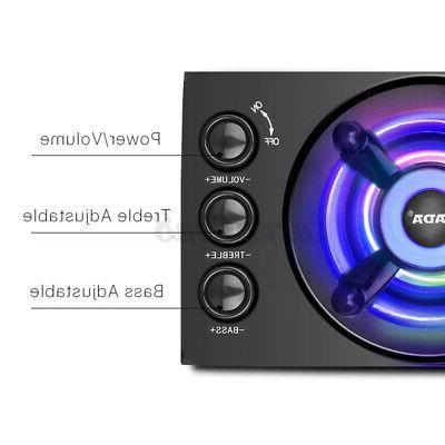 2.1 LED Light Bass Subwoofer Home Speaker PC