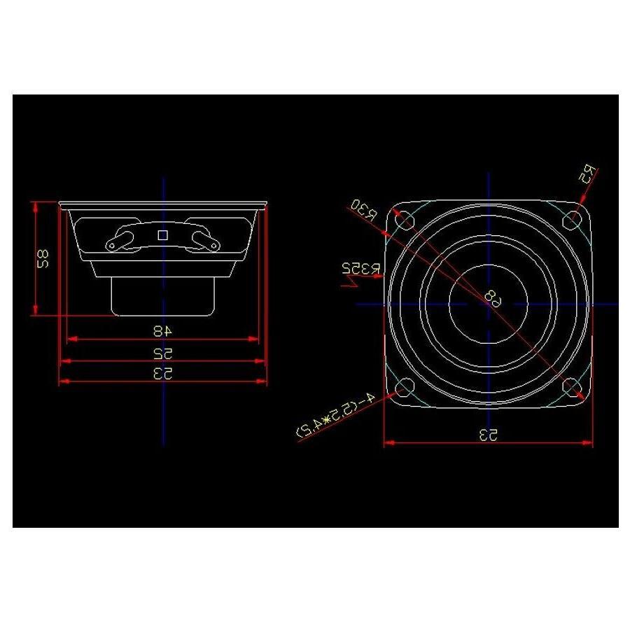 2 inch Audio 15W 8Ω Range Good Loudspeaker