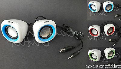 2pc 3 5mm usb powered portable stereo
