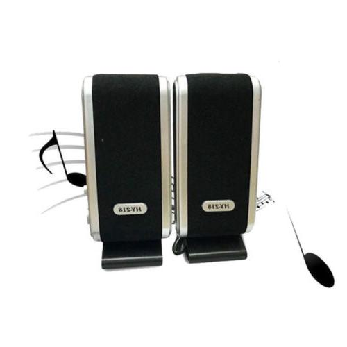 2x Computer Speakers Stereo 3.5mm Jack Laptop