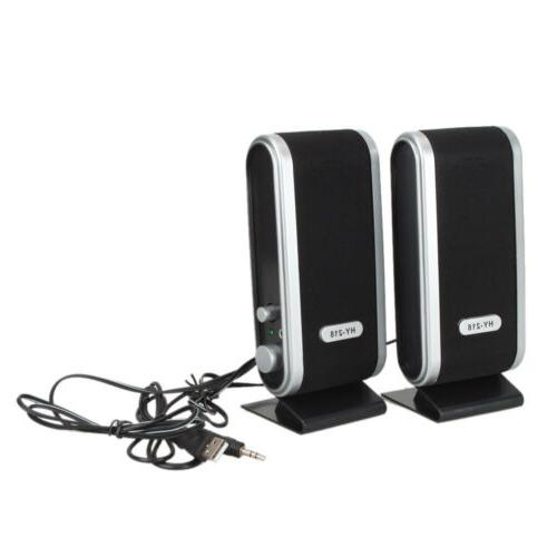 usb power wired computer speakers