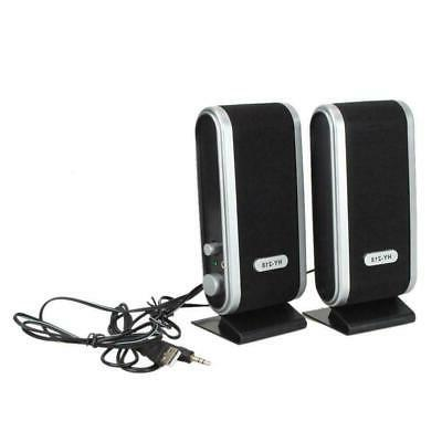 2pc USB Speakers 3.5mm w/ Ear For PC