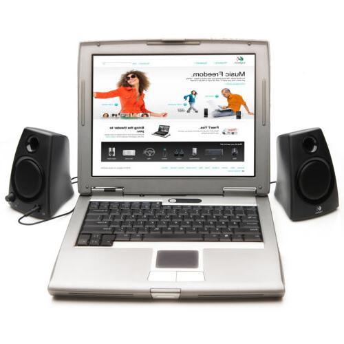 Logitech 3.5mm Jack PC Laptop Stereo Speakers in Z130