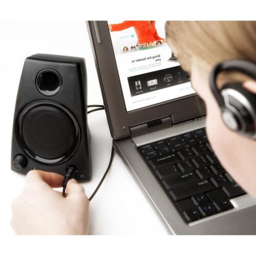 Logitech 3.5mm Jack Compact PC / Laptop Speakers in Black   Z130