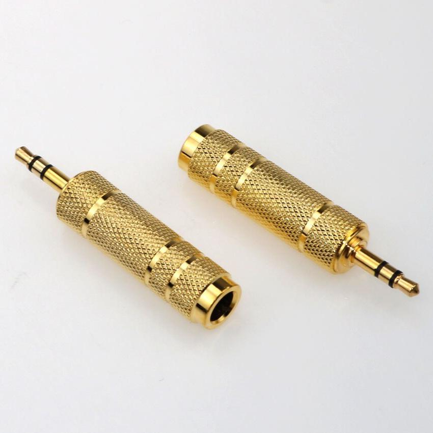 3.5mm Male to 6.5 mm Female Adapter plug <font><b>Mono</b></font> Stereo <font><b>Speaker</b></font> Adapter converter Phone <font><b>PC</b></font> Notebook