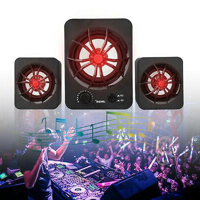 3PCS USB Wired Speakers Super Bass Music Laptop
