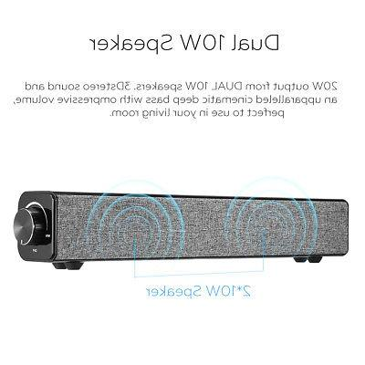 4000mAh INSMA Wireless Computer Speaker bluetooth PC Desktop TV Soundbar