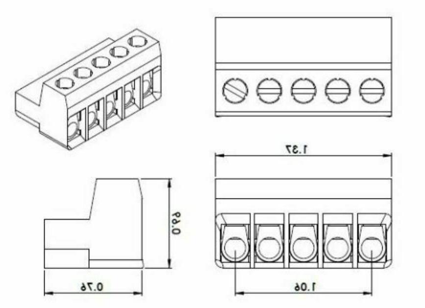 5-Pin Amplifier Plug PRECISION PPI PCX DCX ART Amp