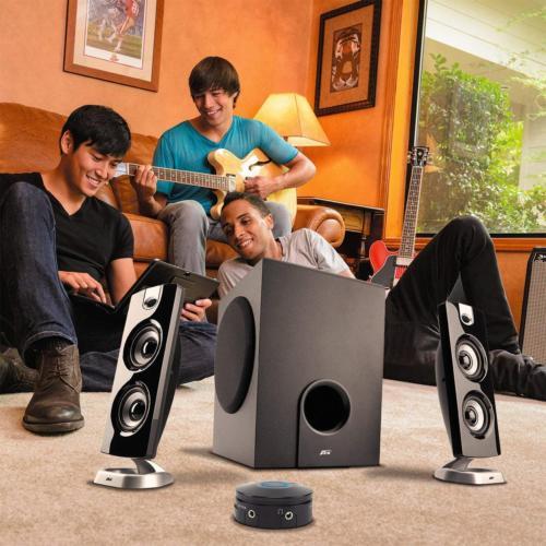 62W Desktop Speaker with Subwoofer - 2.1 and Multimedia