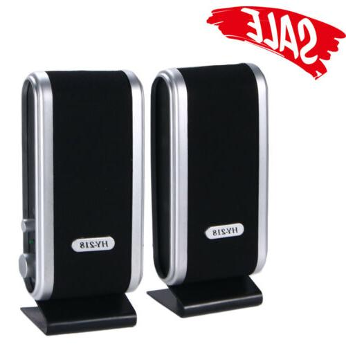 usb 6w power wired computer speakers stereo