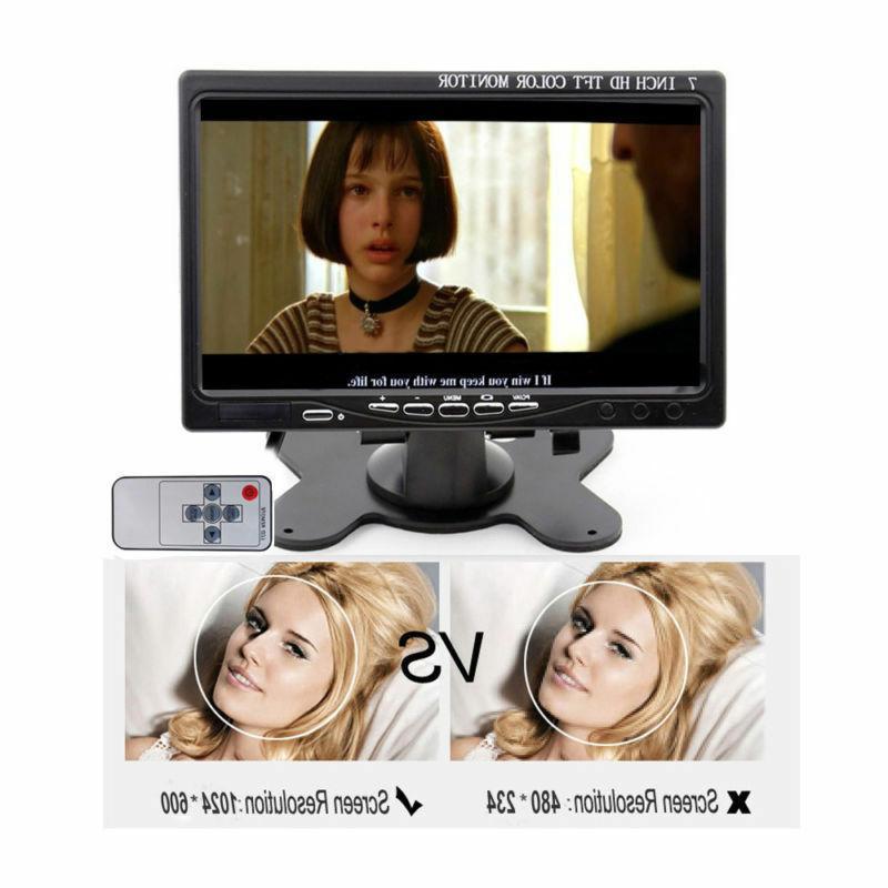 Monitor HD Screen AV/VGA/RCA/HDMI Speaker