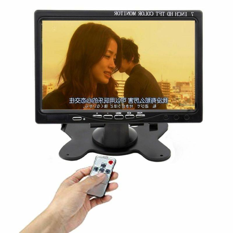 "7"" LCD Monitor Screen AV/VGA/RCA/HDMI Speaker"
