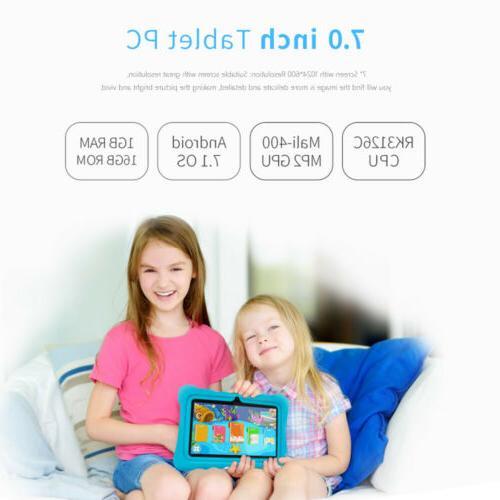 """7 """" Kids PC Android 7.1 Quad Core 1GB+16GB Camera Speaker"""