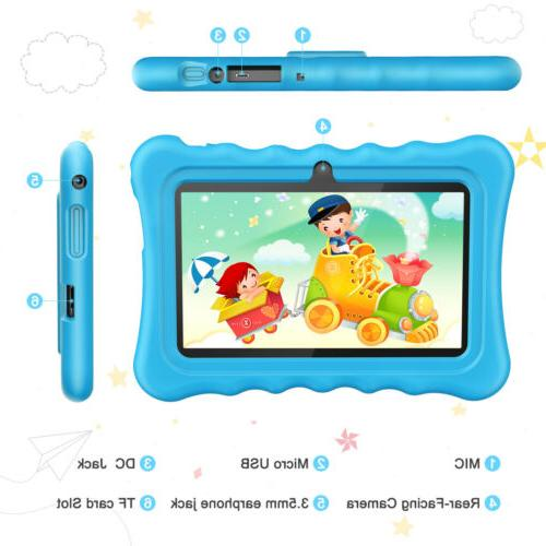 "7"" Kids Tablet Android 8.1.0 Quad 2MP Built-In Speaker Mic"