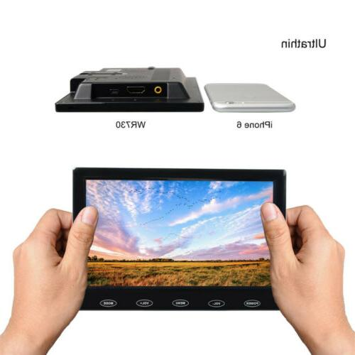 """7"""" TFT LCD Security Monitor VGA HDMI Speakers Touch PC Security"""