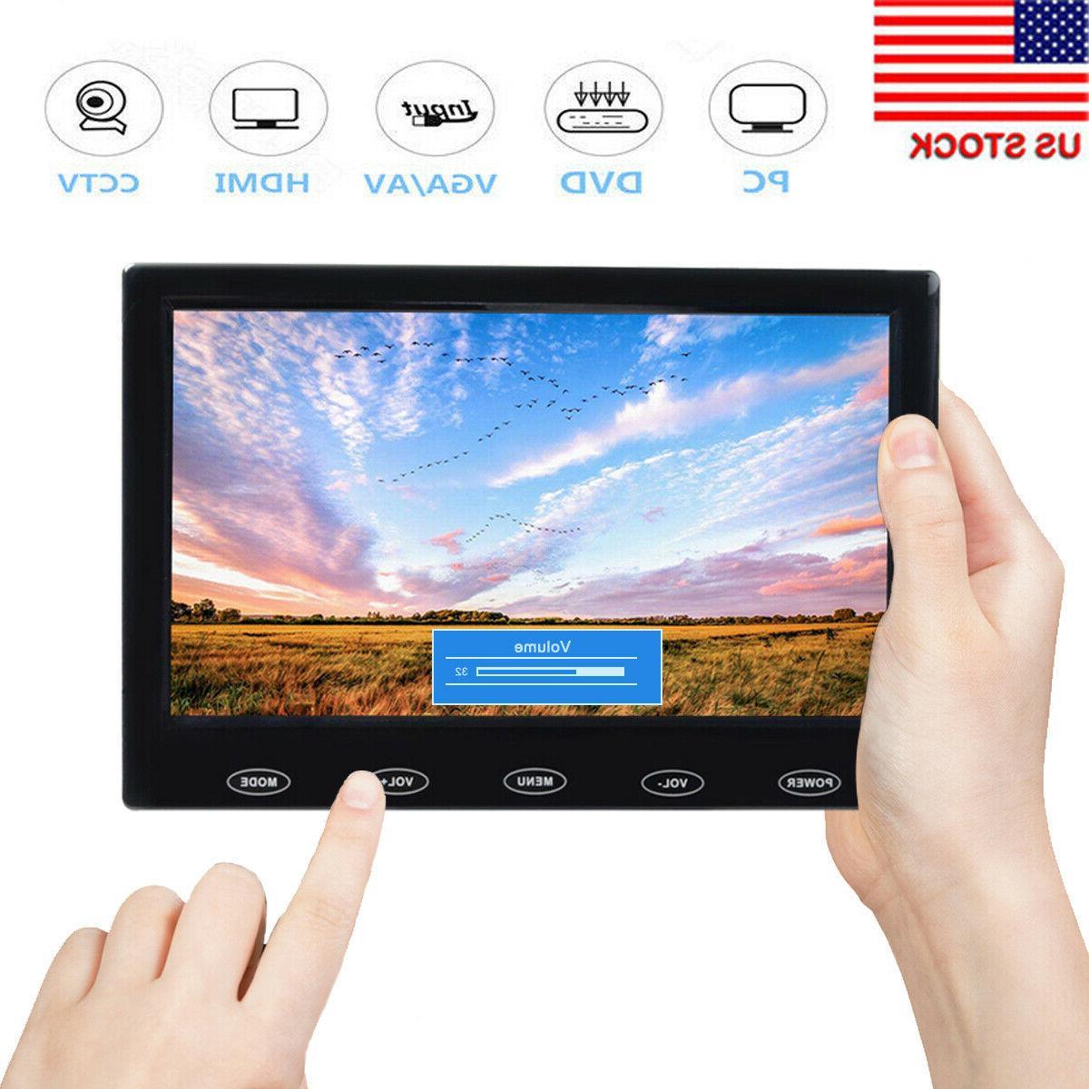 "7"" TFT LCD Security Monitor HD AV VGA HDMI Speakers Touch Ke"