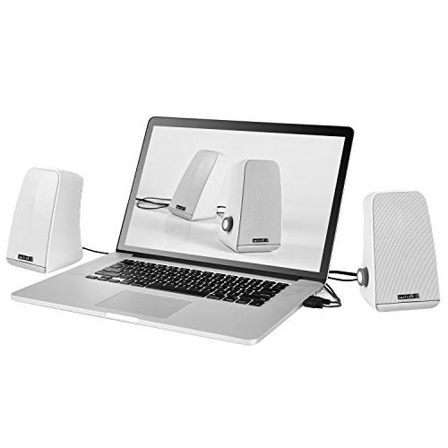 Besteye BE-829 USB Speakers for Laptop Plug and with Enhanced Resonator Stereo Sound PC Computer