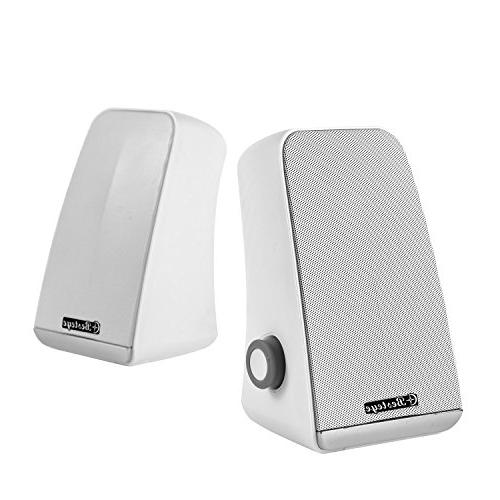 Besteye BE-829 USB Speakers for Plug and Enhanced Bass Sound White