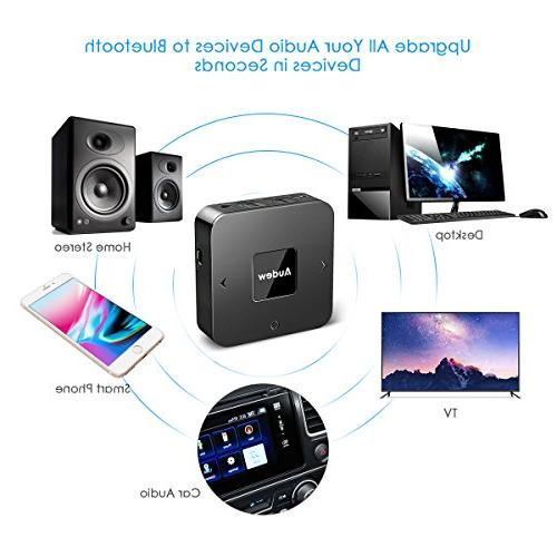 AUDEW Bluetooth 2 1,Bluetooth Adapter for Home/Car Optical at Once-Upgraded Version Apt-X Low