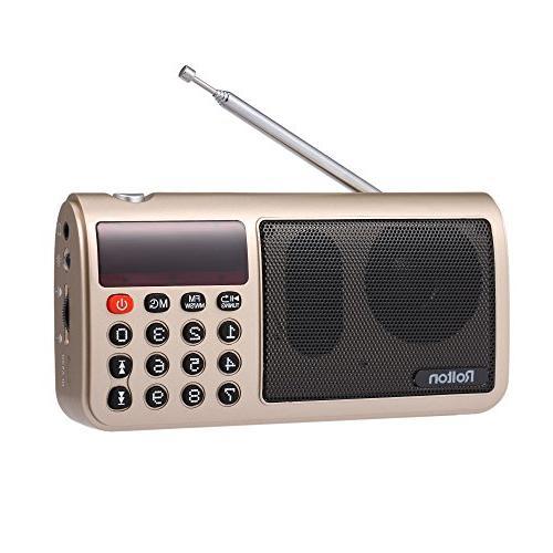 Docooler Portable Digital Radio Speaker, Rolton T50 FM+MW+SW