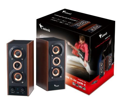 Genius 3-Way Speakers for PC, MP3 players, and Tablets