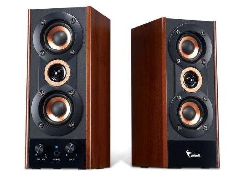 Genius Hi-Fi Wood Speakers PC, MP3 players, and