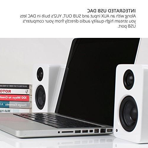 "Kanto Powered Desktop Speakers Driver 3/4"" Silk Tweeter – Matte Black"