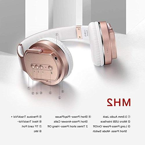 SODOLIFE Bluetooth Headphone and Wireless Stereo Headsets Work PC Phones, NFC, mode - MH2