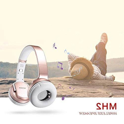 SODOLIFE in 1 Bluetooth Headphone Wireless with Mic Travel Work Phones, with Wired mode