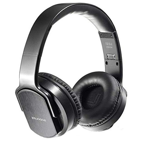 SODOLIFE 2 in 1 Bluetooth Headphone Over-Ear and Wireless St