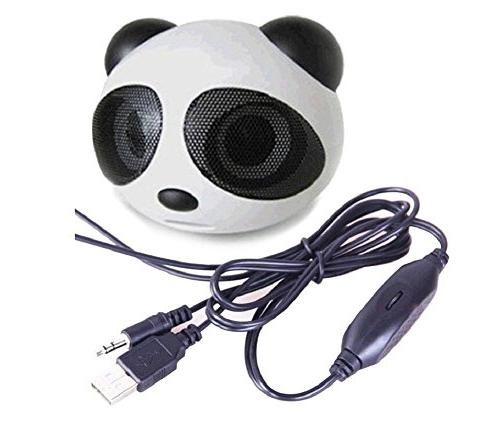 SSJ Panda White Bear Portable Multimedia Speaker - Works wit